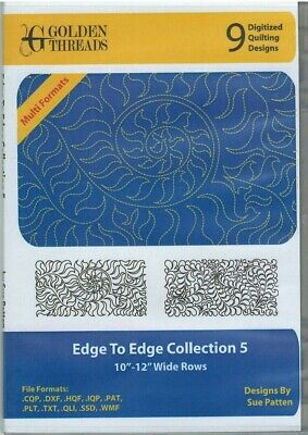 Golden Threads Edge to Edge Collection 5- 9 Digitized Quilting Designs Longarm