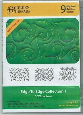 Golden Threads EDGE TO EDGE COLLECTION 1 - 9Digitized Quilting Designs Longarm