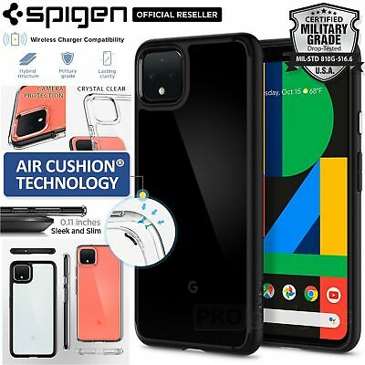 Google Pixel 4 XL Case, Genuine Spigen Ultra Hybrid Bumper Hard Cover for Google