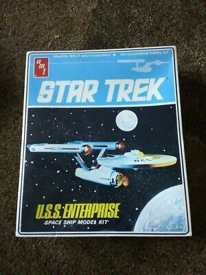 Vintage Star Trek USS Enterprise 1983 AMT ERTL Model Kit With Box Factory Sealed