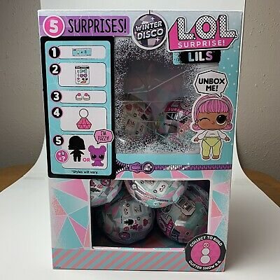LOL Surprise Winter Disco Series LILS Glitter Globe IN HAND Fast Shipping!