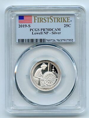 2019 S 25C Silver Lowell Quarter PCGS PR69DCAM First Strike