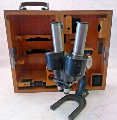 Carl Zeiss Jena  Early Antique Bionicle Stereo Microscope -  Rare & Unique