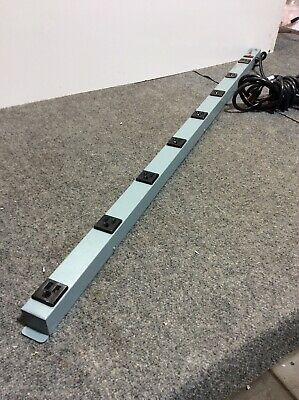 TRIPPLITE WABER WIREMOLD UL7408-15 OUTLET POWER STRIP 15A 120V 8 PLUGS 4' Long
