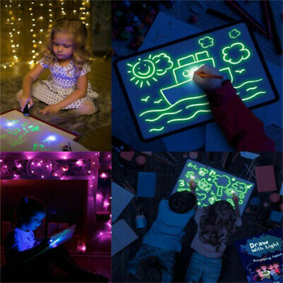 Draw With Light Fun And Developing Toy Drawing Board Educational Magic Painting@
