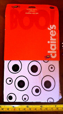 White Eyes Tights Halloween Child 3-6yrs Claire's Claires Accessories £5 RRP