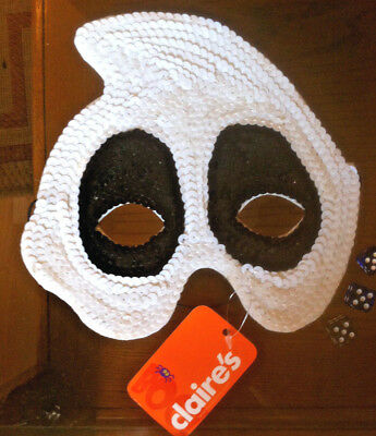 Ghost Mask Fancy Dress Up Scary Halloween Claire's Claires Accessories £5.50 RRP