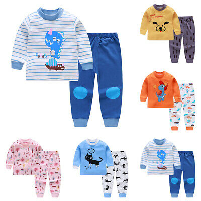 2PCS Toddler Kids Girls Cartoon Sweatshirt Tops + Pants Tracksuit Outfits Set