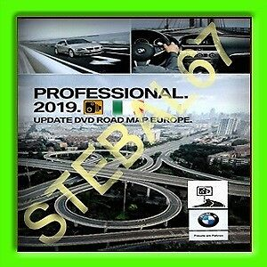 Dvd Cd Bmw Road Map Europe Professional  2018-2019 Mappe Navigatore + Autovelox