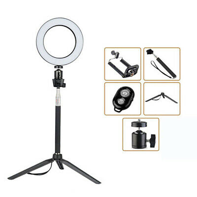 LED Studio Ring Light Photo Video Dimmable Camera Phone Lamp Light Kit Tripod UK