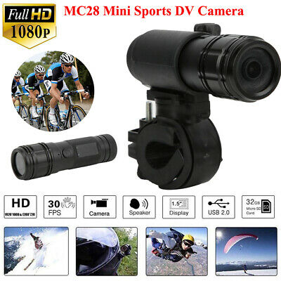 MC28 1080P Action Camera Car Bike Motorcycle Helmet Flashlight Shape Camcorder