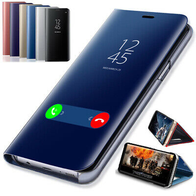 For Xiaomi Redmi Note 8 7 Pro 7 7A Smart Mirror Leather Flip Stand Case Cover