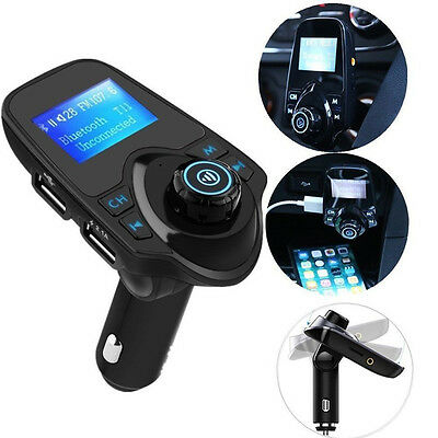 Auto LCD T11 Bluetooth Car FM Transmitter Wireless Radio Adapter USB Charger NEW