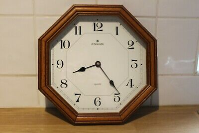 Lovely German Junghans Wooden 1970S Wall Clock With Original Movement,