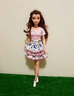 New fashion light pink shirt & skirt  For your Barbie doll outfit Au seller