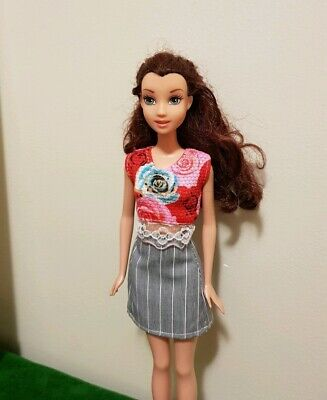New fashion red blouse &  skirt  For your Barbie doll outfit Au seller