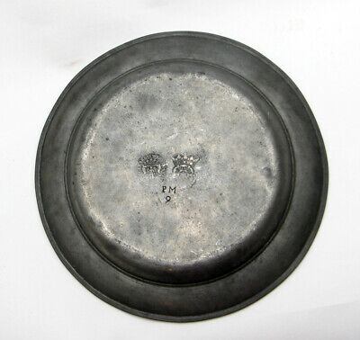 Antique Pewter Plate 18th century? Unknown British / German marks?