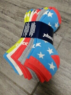 NEW BODEN JOHNNIE B 5 Pack thick  trainer Socks sz 12 to 3 kids unisex