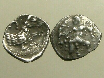 TARSOS CILICIA SILVER OBOL_____4th Century BC_____FOREPART OF WOLF & BALTAARS