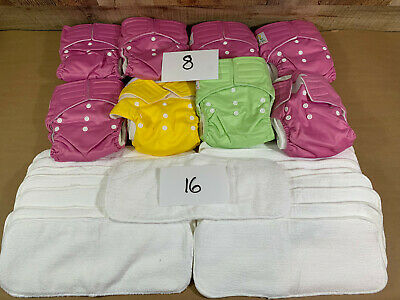 Adjustable Reusable Baby Washable Cloth Diaper Nappies - GIRLS LOT