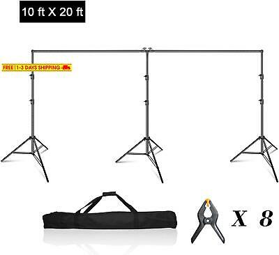 Emart Photo Video Studio 20 Ft Wide 10 Ft Tall Adjustable Heavy Duty Photography