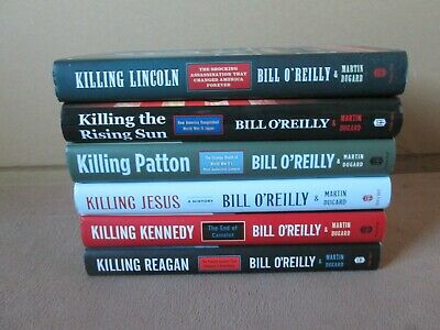 Lot of 6 BILL O'REILLY & MARTIN DUGARD Hardcover Books, KILLING Series, PATTON