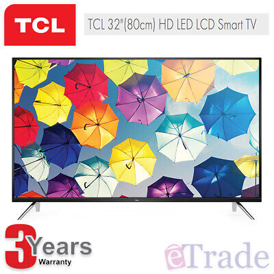 "TCL 32"" Inch HD LED Smart TV with Netflix YouTube WiFi 32S6500S + 3 Yr Warranty"