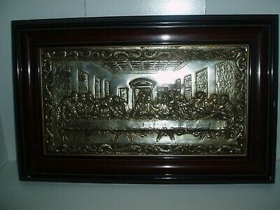 Antique Silver Plate On Copper - The Last Supper