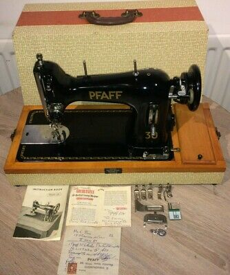 Pfaff 30 Electric Vintage sewing machine with Instruction Manual & attachments