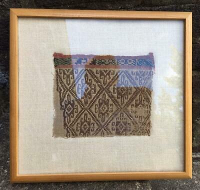 Conserved: Pre-Columbian Textile Fragment #1