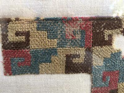 Conserved: Pre-Columbian Textile Fragment  #2