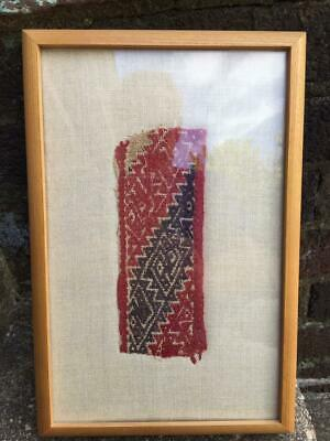 Conserved: Pre-Columbian Textile Fragment  #4