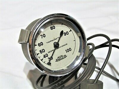 Pre War British Jaeger Temperature Gauge Fits Riley Austin Alvis Allard Morgan