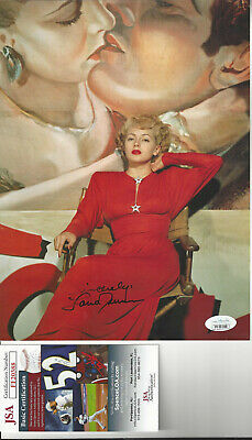 Actress Lana Turner  autographed color 8x11 magazine page JSA Certified