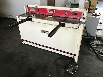 """Used Jet 52"""" X 16 Gauge Pneumatic Shear With Back Gauge Ps-1652T"""