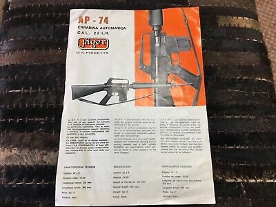 Rare Vintage Jager AP-74 .22 LR Rifle Owners Manual