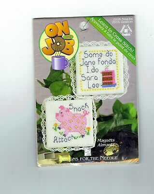 Embroidery cross stitch magnet animals craft kit beginner or quick cross stitch