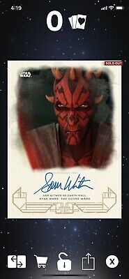 Star Wars Topps Card Trader Darth Maul Signature 49 Count Galactic Heritage