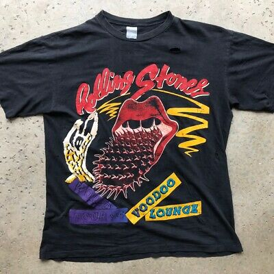 The Rolling Stones Vintage Single Stitched Voodoo Lounge Parking Lot Tee 90s 94