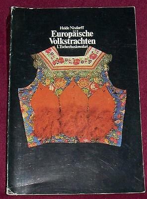 Czechoslovakia FOLK COSTUME BOOK - Czech Moravia Slovakia Ethnic Dress Kroj Old