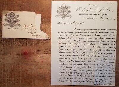 1881 B Leidersdorf Western Steam Tobacco Works Letter Thomas Nichol Milwaukee WI