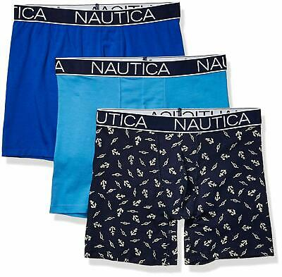 Nautica Men's 3-Pack Classic Underwear Cotton Stre - Choose SZ/color