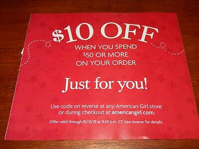 American Girl Store Online Coupon $10 Off $50 Exp 10/31/19