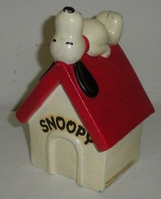 Snoopy Sleeping on Dog House,Ceramic Still Bank (Charlie Brown,Peanuts Gang)