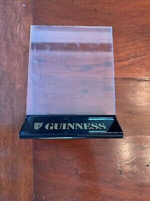 Guinness Table Top Beer Sign Menu Holder - 2 Sided Acrylic Inserts Sturdy