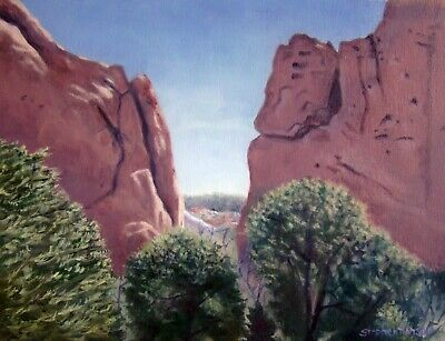(REDUCED  AGAIN !!!) Garden of the Gods Unusual Rock Formations Oil Painting