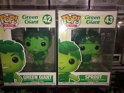 green giant and sprout funko Pop Brand New In Pop Protectors