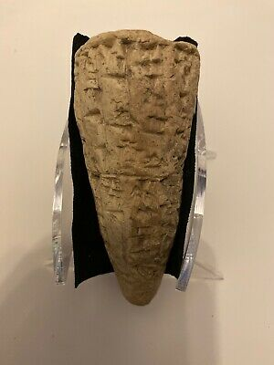 Translated & Authenticated Sumerian Cunieform Foundation Cone, 1953BC W/ Paperwk