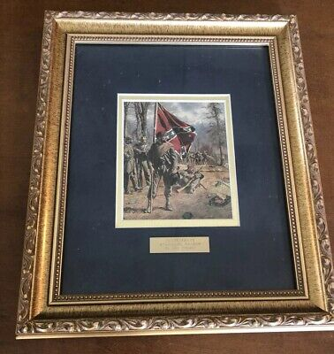 Civil War Framed Print Confederate Standard Bearer By Don Troieni
