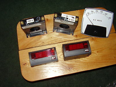 Digital meter, Analog volt, Current Transformer, Simpson, Red Lion Controls